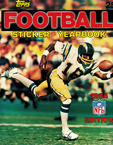 TOPPS NFL Sticker Yearbook 1984
