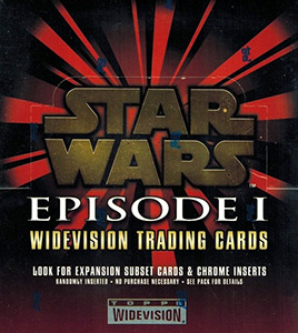 TOPPS STAR WARS  EP1  WIDEVISION TRADING CARDS  SET