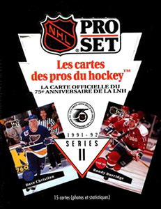 PRO SET NHL French 1991-1992