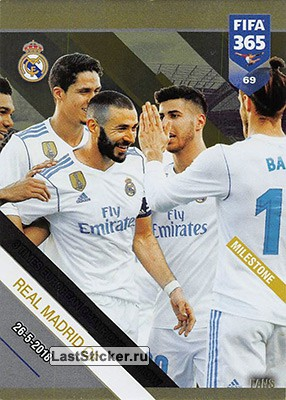 Real Madrid CF - 3 Times European Champion in a row (Real Madrid CF)